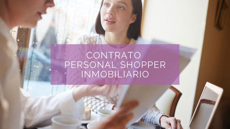 contrato personal shopper inmobiliario